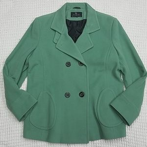 Green Double breasted Pea Coat